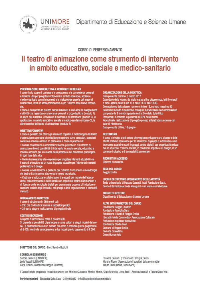 Calendario Lezioni Unimore.Corso Alta Formazione Unimore Festival Arrivano Dal Mare